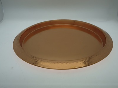 Hammered Copper Serving Tray Rose Gold