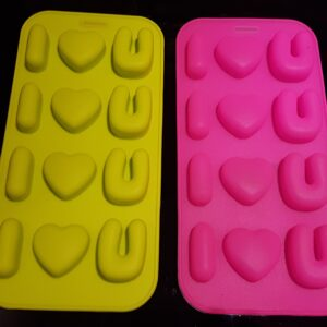 2PC LOVE SILICON CHOCOLATE MOULD