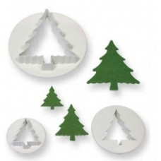 3 PC CALYX CHRISTMAS TREE FONDANT CUTTER