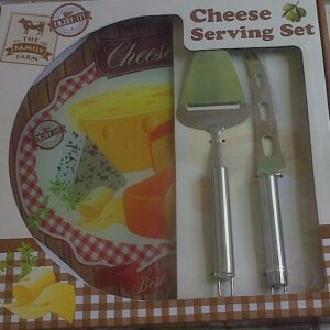 CHEESE SERVING SET WITH 2 KNIVES