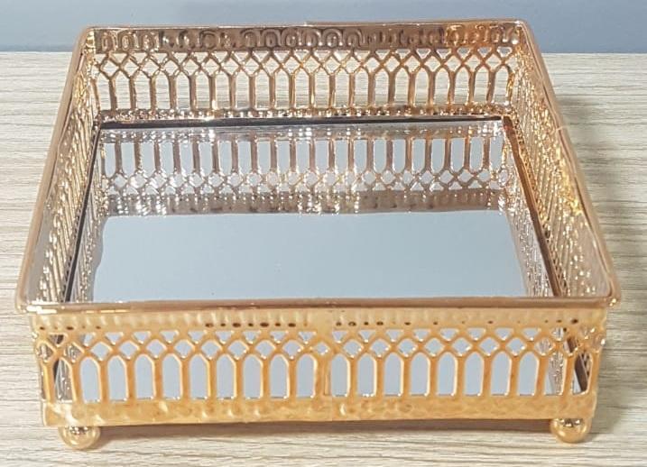 Mini Mirror Tray Rose Gold Home Worth